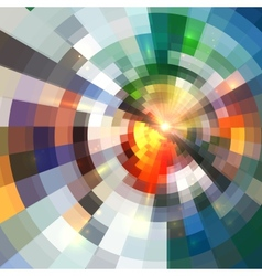 Bright abstract shining circle tiles background vector image