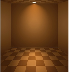 Brown room vector image