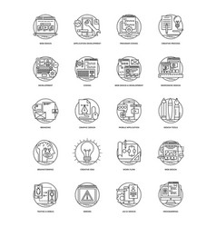 Bundle of design and development glyph ico vector