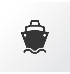 Cargo ship icon symbol premium quality isolated vector