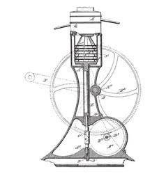 Centrifugal separator vintage vector