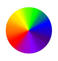 Circular gradient rainbow round color vector