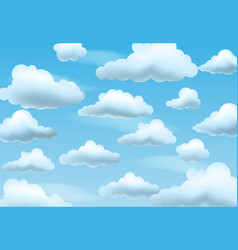 Clear blue sky with clouds vector