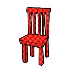 Comic cartoon wooden chair vector