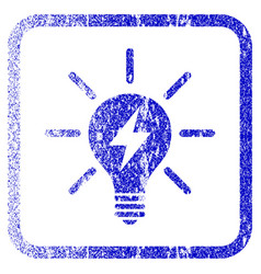 Electric light bulb framed textured icon vector