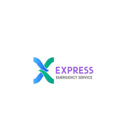 emergency service sign vector image
