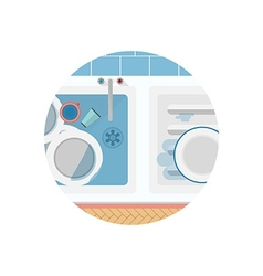 Flat icon for Kitchen sink vector image