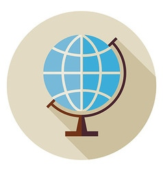 Flat Science and Education Geography World Globe vector