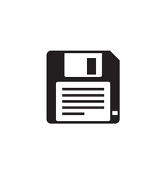 Floppy disk - black icon on white background vector