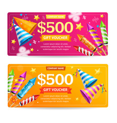 gift voucher template set vector image