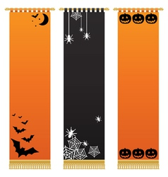 Halloween wall hangings vector