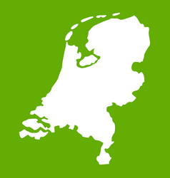 holland map icon green vector image