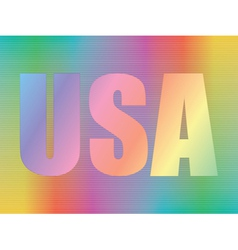 Hologram with USA vector