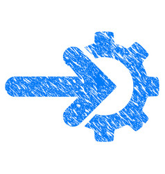 Integration gear grunge icon vector