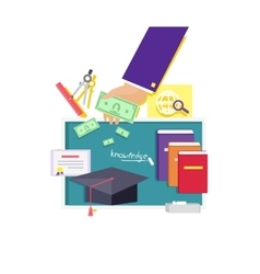 Invest in Education Concept Icon Flat Design vector