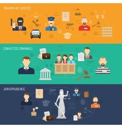 Justice horizontal banners set vector image