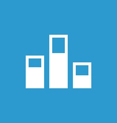 levels icon white on the blue background vector image