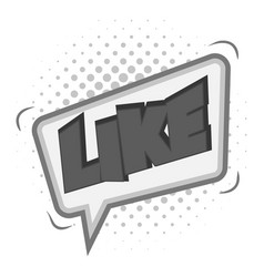 like speech bubble icon monochrome vector image