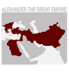 Map of the alexander the great empire vector
