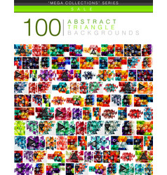 Mega collection of 100 triangle abstract vector