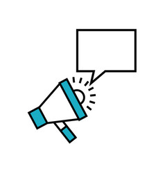 Megaphone and speech bubble vector