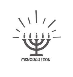 Menorah icon simple flat style vector