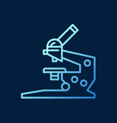 Microscope blue concept outline icon or vector