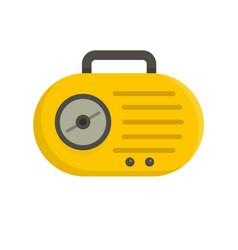 Mini radio icon flat style vector