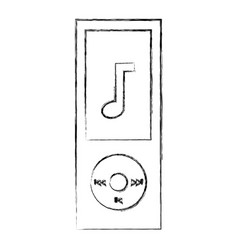 mp3 player music device vector image