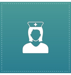 Nurse flat icon vector