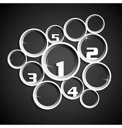 paper 3d circle info graphic position places vector image