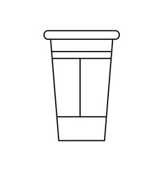 Paper coffee cup portable fresh beverage vector