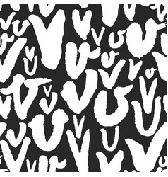 Pattern with calligraphy letters v vector