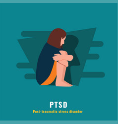 Ptsd post traumatic stress disorder mental health vector