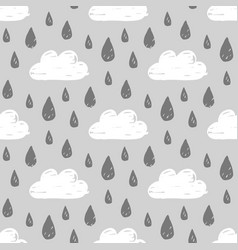 rainy weather pattern vector image vector image