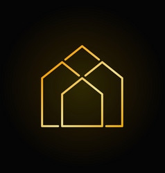 real estate golden icon vector image