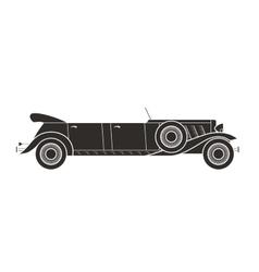 Retro limousine cabriolet car vintage collection vector
