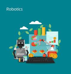Robotics concept flat style design vector