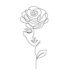 Rose girl on white vector