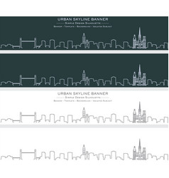 Rouen single line skyline profile banner vector