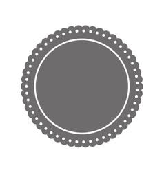 Round label insignia vector image