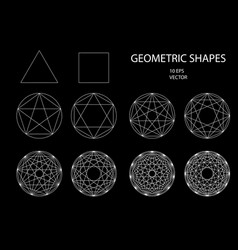 Sacred geometry drawing vector