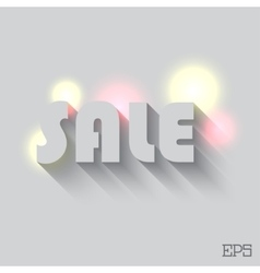 Sale with light and background vector image