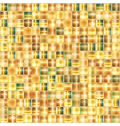 Seamless abstract background of gold mosaic vector