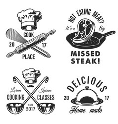 set of cooking emblem vector image