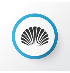 Shell icon symbol premium quality isolated conch vector