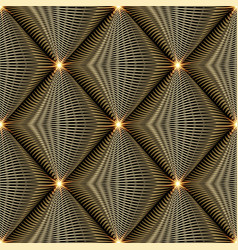 shiny gold 3d modern seamless pattern abstract vector image