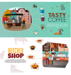 shops banners set vector image