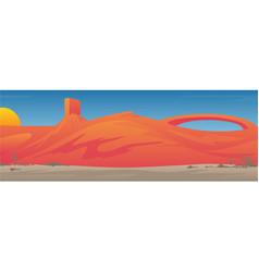 southwestern desert valley landscape scene vector image