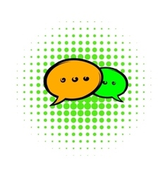 Speach bubles icon comics style vector